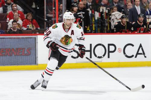 Patrick Sharp Skates With Teammates, Is Nearing A Return