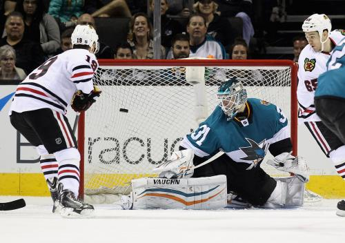 Sharp Scores Twice To Lead Blackhawks Past Sharks 6-2